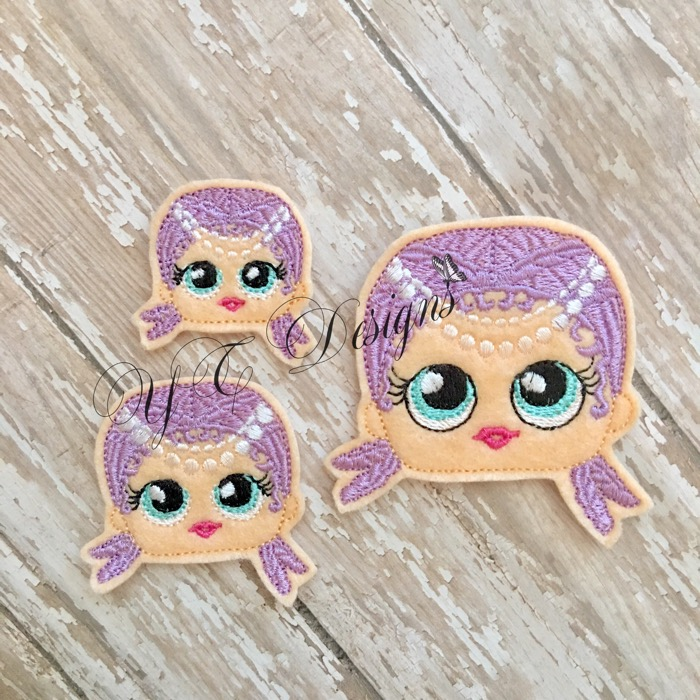 Giggle Doll Swimmer Head Machine Embroidery File In Four Sizes Yt