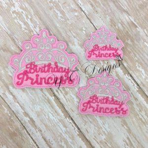 Birthday princess crown wordie