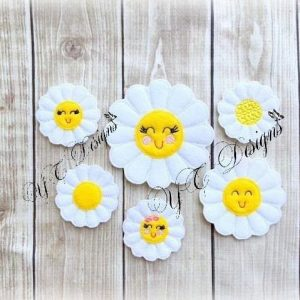 Daisy machine embroidery file