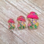 Spring Teddy 2 machine embroidery feltie file in multiple sizes