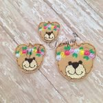 Spring Teddy 3 Head machine embroidery feltie file in multiple sizes
