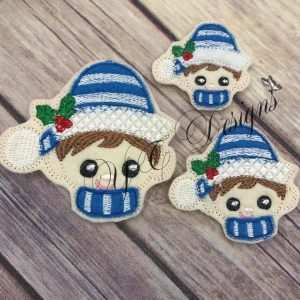 Elf Sweety Boy Digital machine embroidery feltie File in multiple sizes