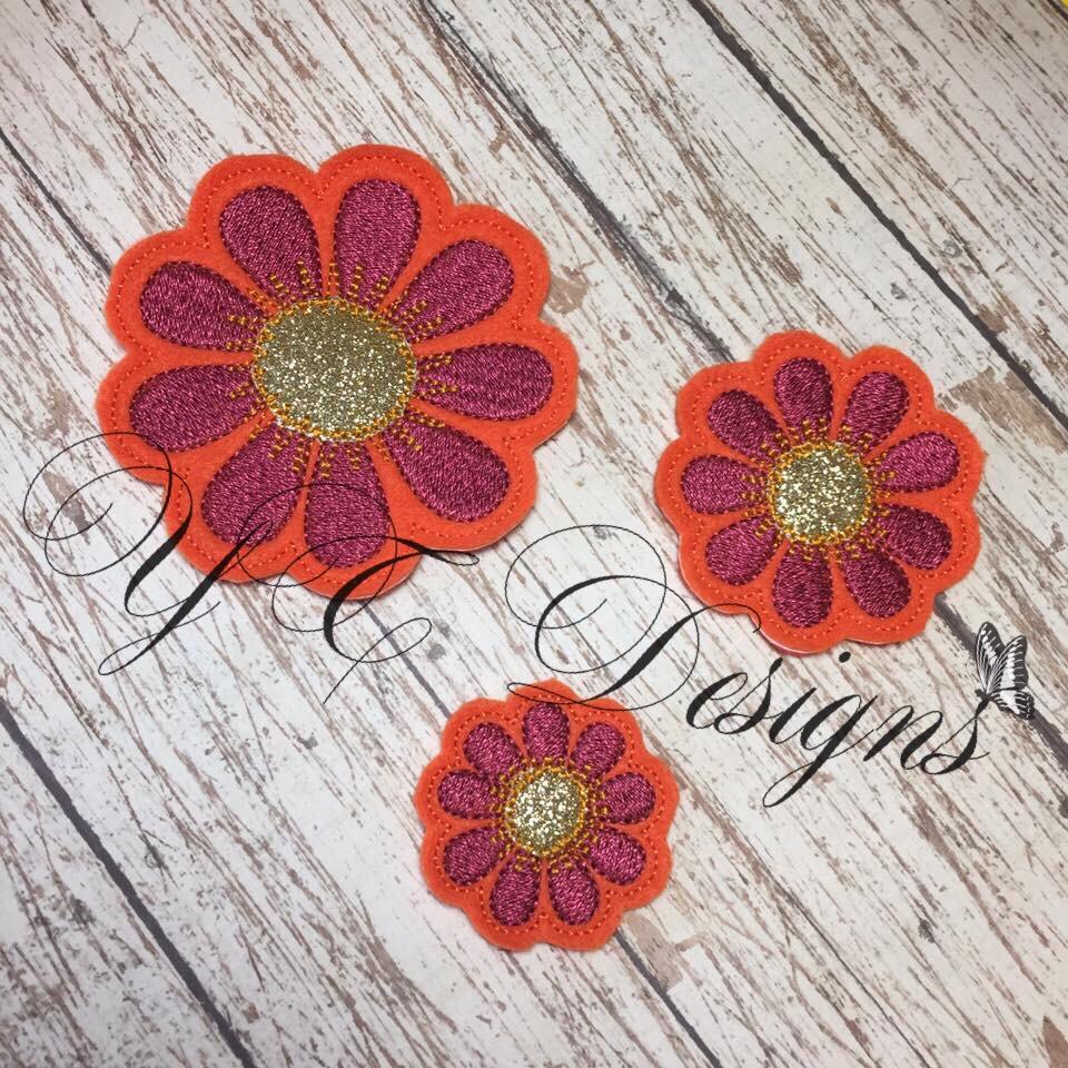 Daisy flower 1 digital machine embroidery feltie file in multiple daisy flower 1 digital machine embroidery feltie file in multiple sizes izmirmasajfo