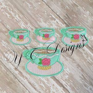 Alice Cup feltie Machine Embroidery File