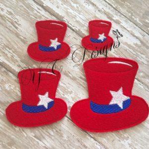 Top Hat Star wordie Embroidery File