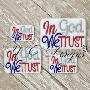 In God We Trust to the Flag wordie Embroidery File