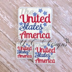 The United States of America wordie Embroidery File