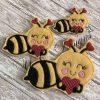 Bee Smily Heart Girl Feltie