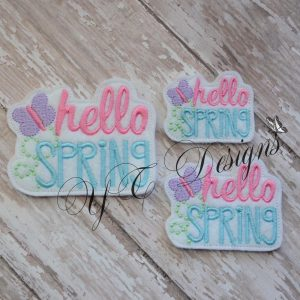 Hello Spring Wordie Machine Embroidery File~2017