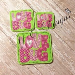 Love Bug Wordie Machine Embroidery File~2017