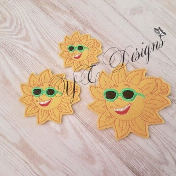 Sun Cool feltie machine embroidery file 2017