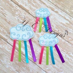 Raincloud 3D Swirly feltie