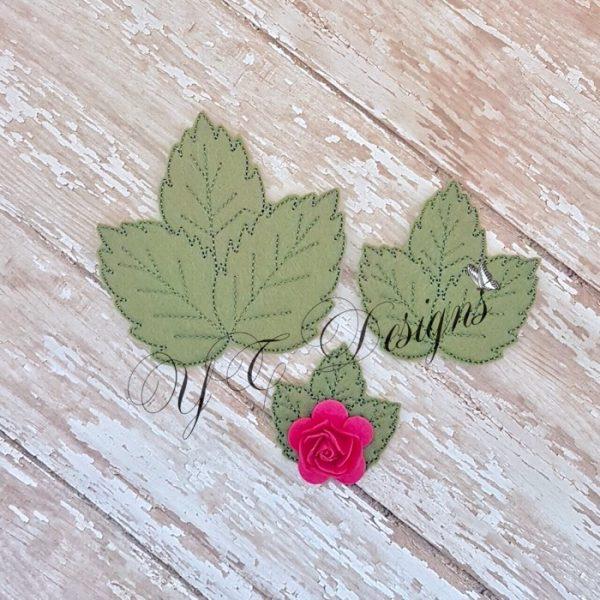 Leaves Rose Cluster