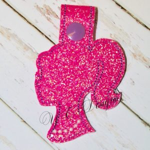 Doll Head silhouette 1 Key fob