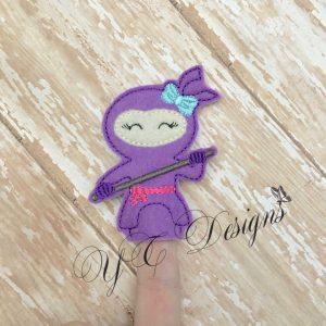 Ninja Girl finger puppet