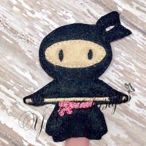 Ninja finger puppet