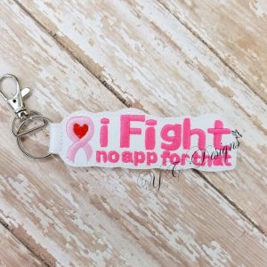 iFight Key Fob Machine Embroidery File ~ OLDIE