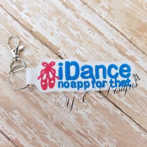 iDance Key Fob Machine Embroidery File ~ OLDIE