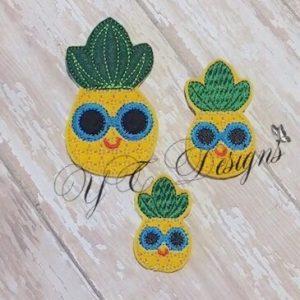 Pineapple Glasses Round