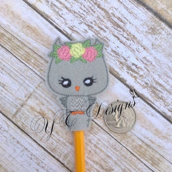 Owl Girl Pencil Topper
