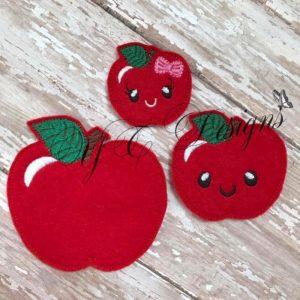 Kawaii Apple feltie