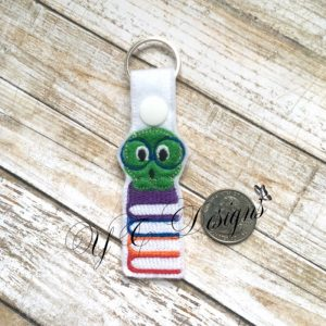 Bookworm Nerdy Key Fob