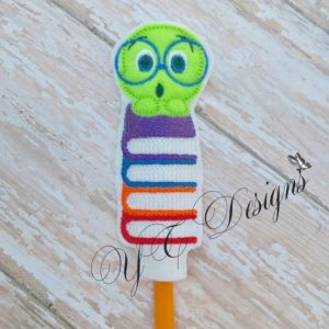 Bookworm Nerdy Pencil Topper