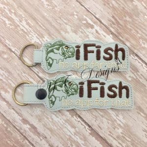 iFish 1 Key Fob Machine Embroidery File ~ OLDIE