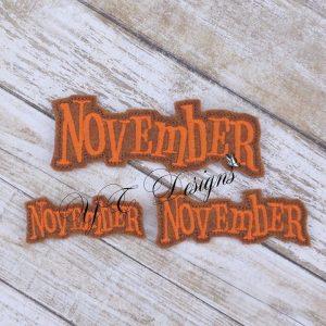 Month of November feltie wordie
