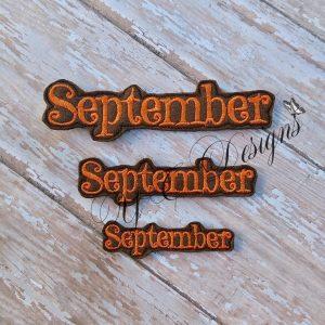Month of September feltie wordie