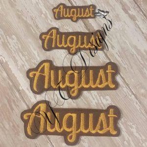 Month of August feltie wordie