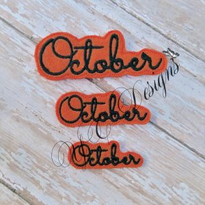 Month of October feltie wordie