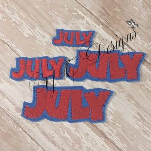 Month of July feltie wordie