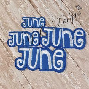 Month of June feltie wordie