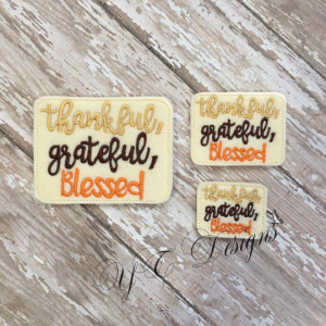 Thankful Grateful blessed wordie